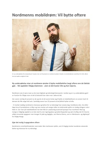 Nordmenns mobildrøm: Vil bytte oftere