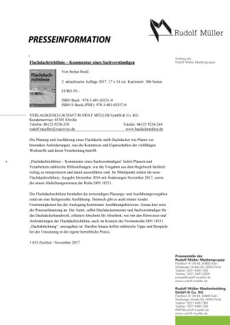 Flachdachrichtlinie – Kommentar eines Sachverständigen