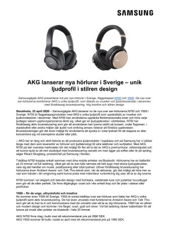 AKG lanserar nya hörlurar i Sverige – unik ljudprofil i stilren design