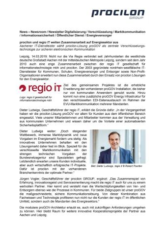 procilon und regio iT weiten Zusammenarbeit auf Energiesektor aus