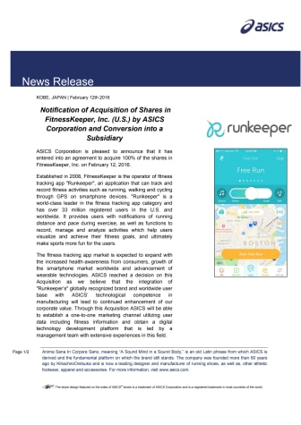 ASICS köper Runkeeper