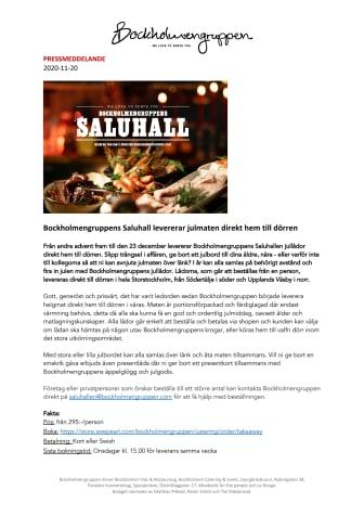 Bockholmengruppens Saluhall levererar julmaten direkt hem till dörren