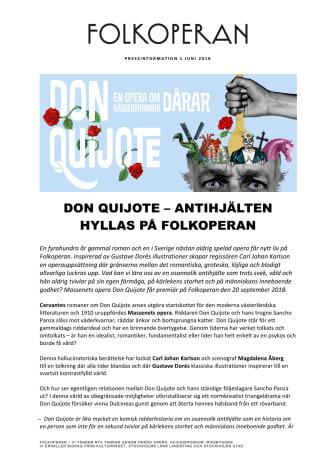 DON QUIJOTE – ANTIHJÄLTEN HYLLAS PÅ FOLKOPERAN