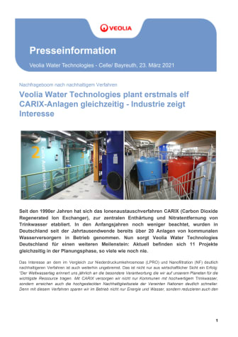 58016_PM Rekord_ Veolia Water Technologies plant erstmals elf CARIX-Anlagen gleichzeitig - Industrie zeigt Interesse.pdf