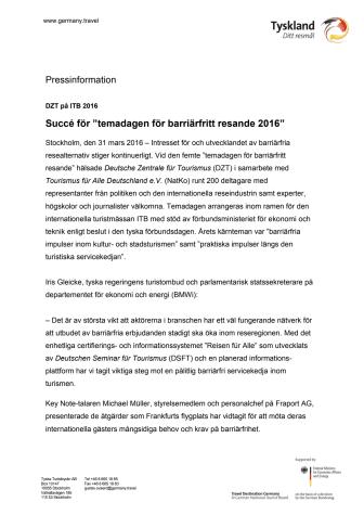 """Succé för """"temadagen för barriärfritt resande 2016"""""""
