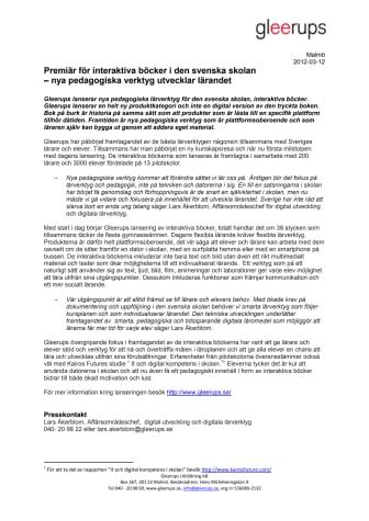 Premiär för interaktiva böcker i den svenska skolan – nya pedagogiska verktyg utvecklar lärandet
