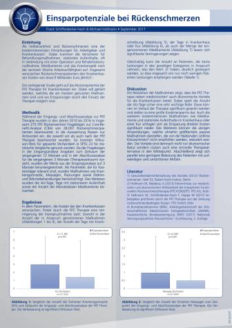 """Handout zur FPZ Studie """"Einsparpotenziale Rückenschmerzen"""""""