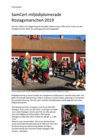 SamCert miljödiplomerade Roslagsmarschen 2019