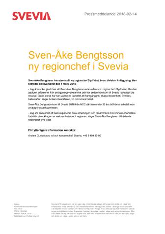Sven-Åke Bengtsson ny regionchef i Svevia