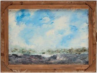 August Strindberg, I havsbandet, a tergo Havslandskap med skär