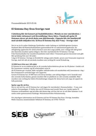 El Sistema Day firas Sverige runt