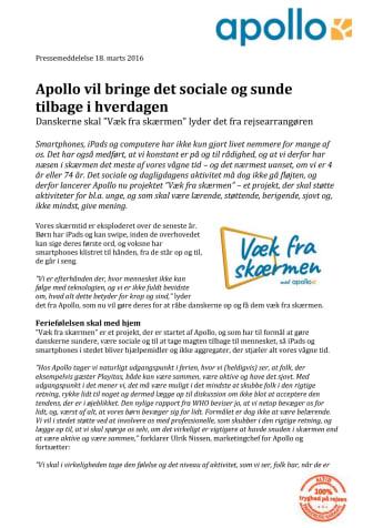 Apollo vil bringe det sociale og sunde tilbage i hverdagen