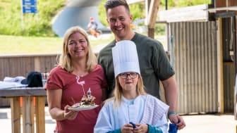 Kokken Ida med mamma og bonuspappa