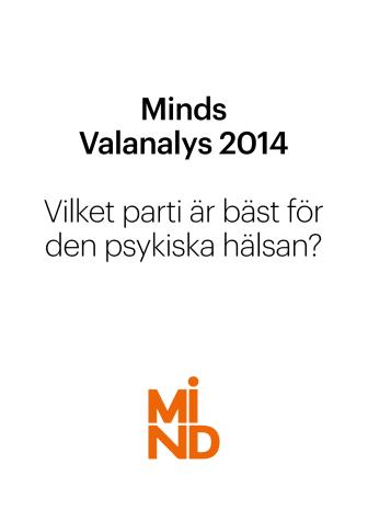 Minds valanalys 2014: Vilket parti är bäst för den psykiska hälsan?