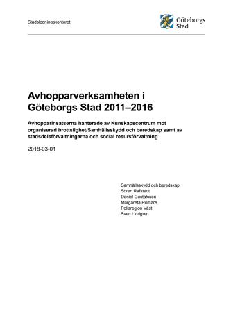 Avhopparverksamheten i Göteborgs Stad 2011–2016