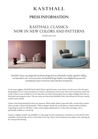 KASTHALL CLASSICS: NOW IN NEW COLORS AND PATTERNS