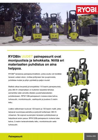 RYOBI® lanseeraa painepesurimalliston