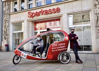 biketaxi-Rikscha ab sofort unterwegs in Erfurt