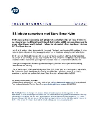 ISS inleder samarbete med Stora Enso Hylte
