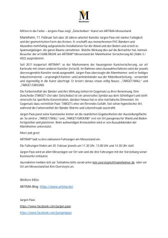 """Mitten in die Farbe – Jürgens Paas zeigt """"Zielscheiben""""-Kunst am ARTIMA-Messestand"""