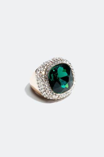 Statement ring med sten
