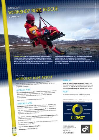 Workshop Rope Rescue 2017