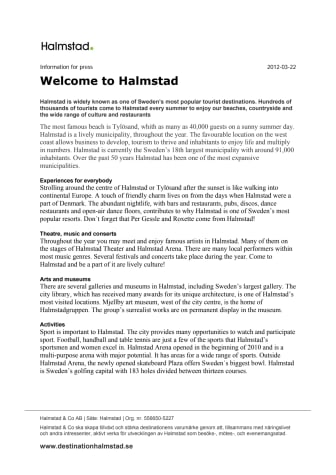 Welcome to Halmstad