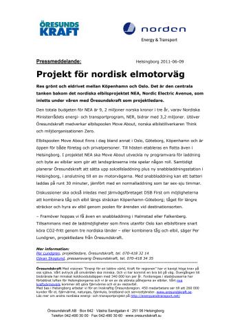 Projekt för nordisk elmotorväg