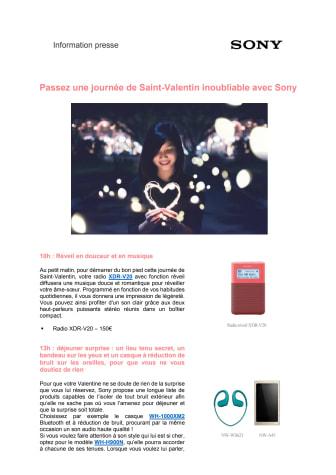 Passez une journée de Saint-Valentin inoubliable avec Sony