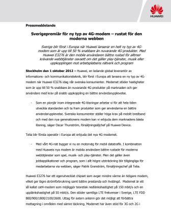 Sverigepremiär för ny typ av 4G-modem – rustat för den moderna webben