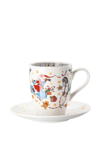 HR_'Morgen_kommt_der_Weihnachtsmann'_Mug_with_handle_and_saucer