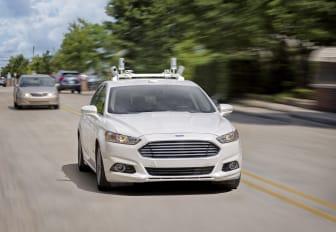 En självkörande Ford Fusion Hybrid.