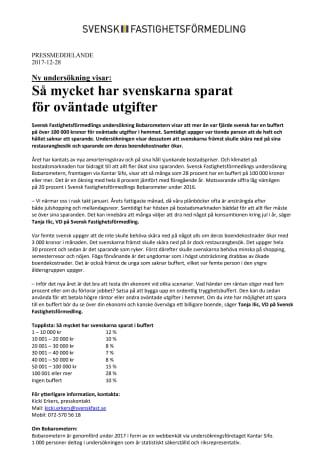 Ny undersökning visar: Så mycket har svenskarna sparat  för oväntade utgifter