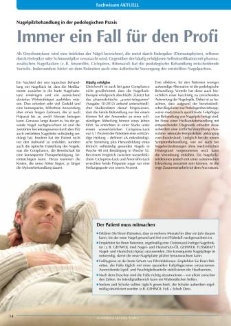Immer ein Fall für den Profi: Nagelpilzbehandlung in der podologischen Praxis