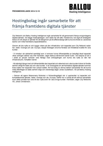 Hostingbolag ingår samarbete för att främja framtidens digitala tjänster
