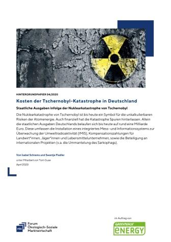 FÖS-Hintergrundpapier zu staatlichen Kosten infolge der Tschernobyl-Katastrophe