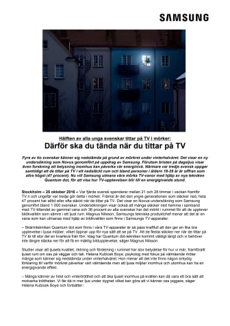 Hälften av alla unga svenskar tittar på TV i mörker: Därför ska du tända när du tittar på TV