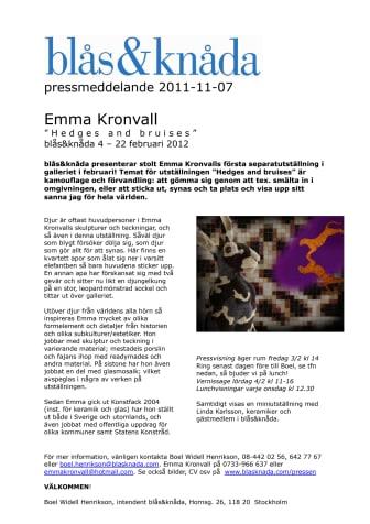 Emma Kronvall på blås&knåda