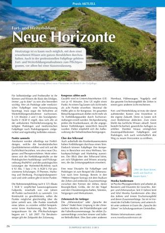 Fort- und Weiterbildung: Neue Horizonte