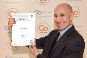 Carl Wood, winner of the Excellence in Customer Service award