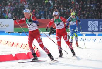 Kristin Sandeggen og Sigrid Bilstad Neraasen, jaktstart JR-VM Minsk.