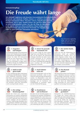Instrumentenpflege: Die Freude währt lange