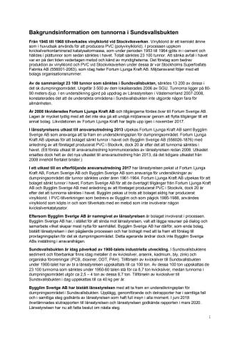 Bakgrundsinformation om tunnorna i Sundsvallsbukten