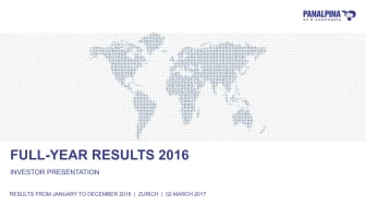Full-Year Results 2016 – Investor Presentation