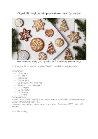 Jytte glutenfrie pepperkaker
