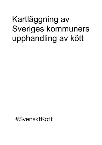 Kartläggning av Sverige kommuners upphandling av kött