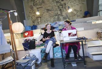 Mode och redesign på Stockholm Mini Maker Faire. Foto: Anna Gerdén