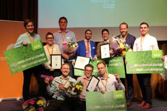 Alla fyra vinnarna på regionfinalen av Venture Cup Öst