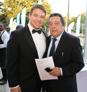 Former South African Rugby team captain John Smith and Dr Ali Bacher