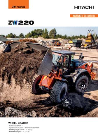 Broschyr Hitachi Hjullastare ZW220-7